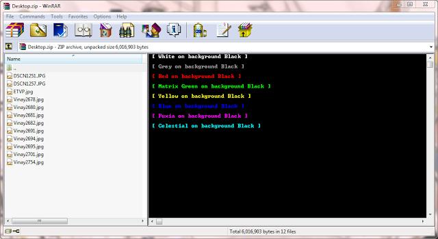 Sample WinRAR Colorful Comments
