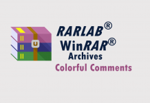 WinRAR archives colorful comments