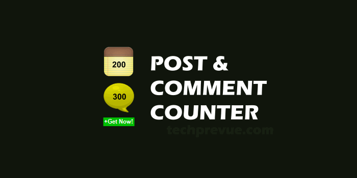 Total posts and comments widget for Blogger