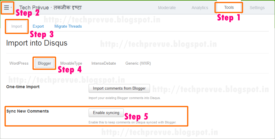 Enable Comments Sync in DISQUS