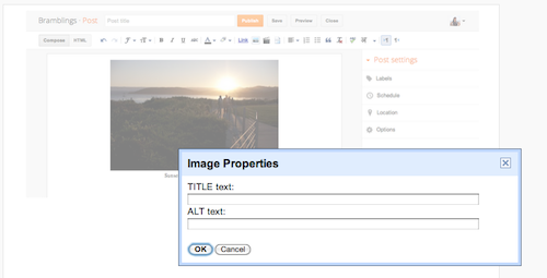 Improve Image Search presence of your blog