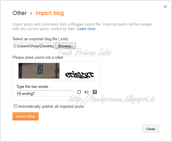 Merge two Blogger blogs as one with all Posts and Comments