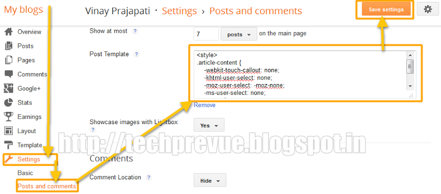 Prevent Post Copy in Blogger Dynamic Views for HTML template Users