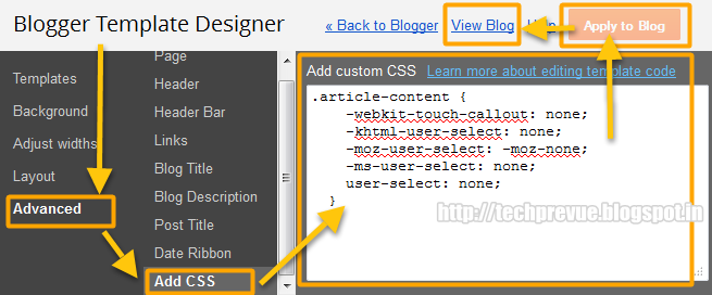 Prevent Post Copy in Blogger Dynamic Views Setup