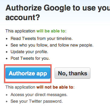 Feedburner Auto Tweet Socialize Add a Twitter Account Authorize app