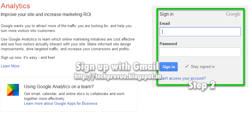 Step 2 - Use Google account if already have