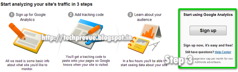 Step 3 - Sign up for Google Analytics accounts
