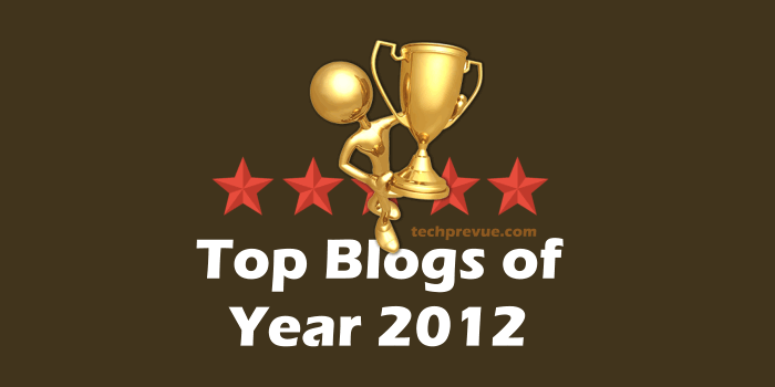 Top blogs year 2012