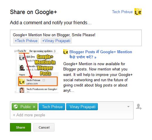 Google+ Share Box