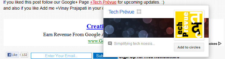 Google+ Mention in Blogger Posts