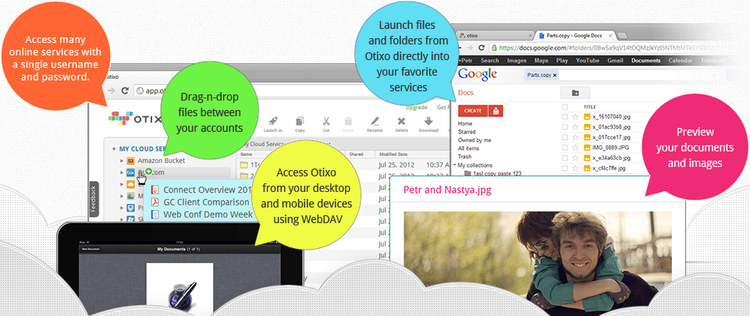 Otixo All your cloud files from a single login