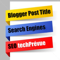Blogger Post Title SEO