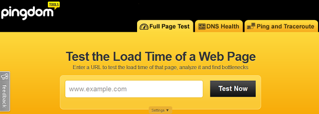 Pingdom tools - Test the Load Time of a Web Page