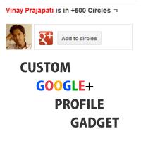 Google+ Profile Gadget