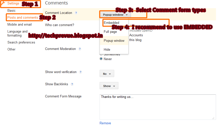 Advance Blogger Comment System Management - Part 1
