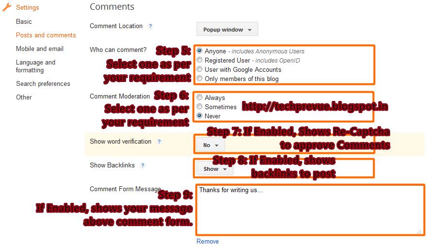 Advance Blogger Comment System Management - Part 2