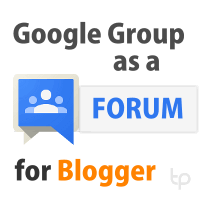 Embed Google Groups as a forum on Blogger