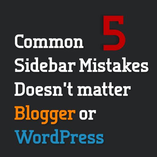 Common Blog Sidebar Mistakes
