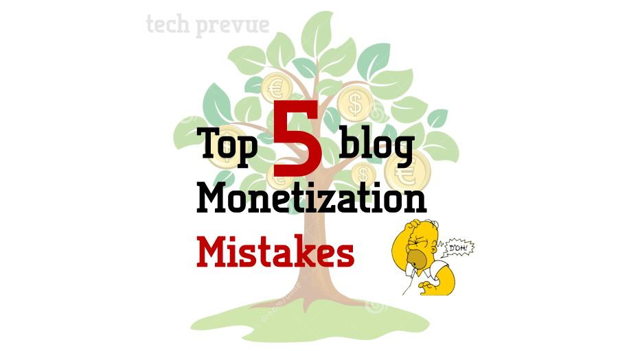 Make Money Blog Mistakes