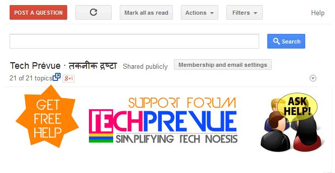 TechPrevue Support Forum