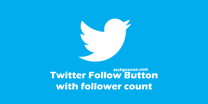 Twitter follow button with count