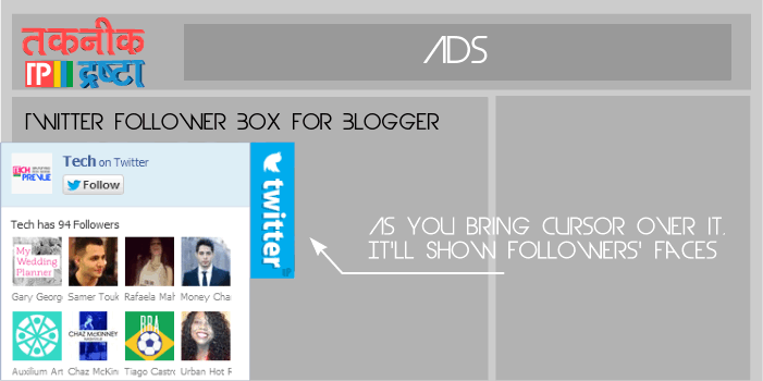 Visible Twitter Follower Box