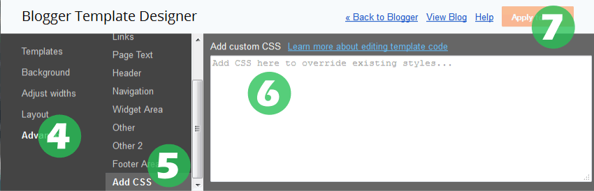 Blogger template designer add custom button