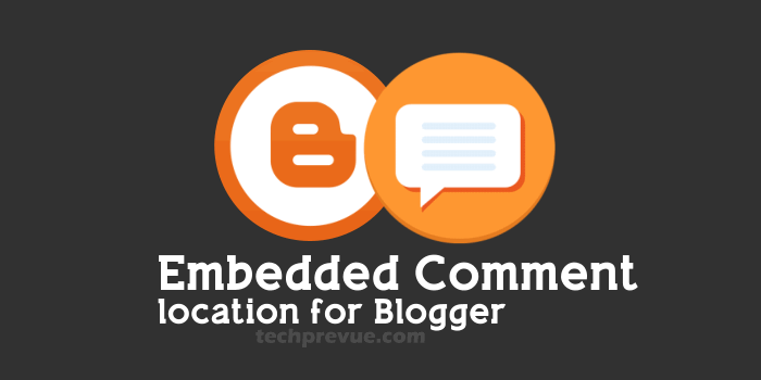 Embedded comment location for Blogger
