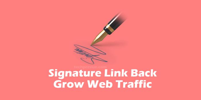 Signature Link Back