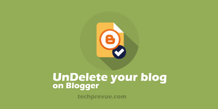 Undelete blog