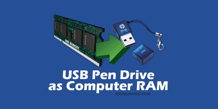 USB pen drive as computer RAM
