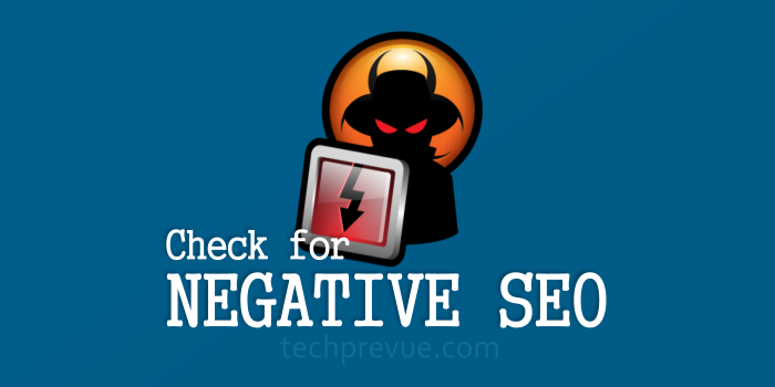 Find out negative SEO