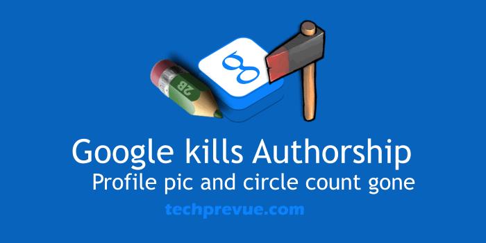 Google Kills Authorship