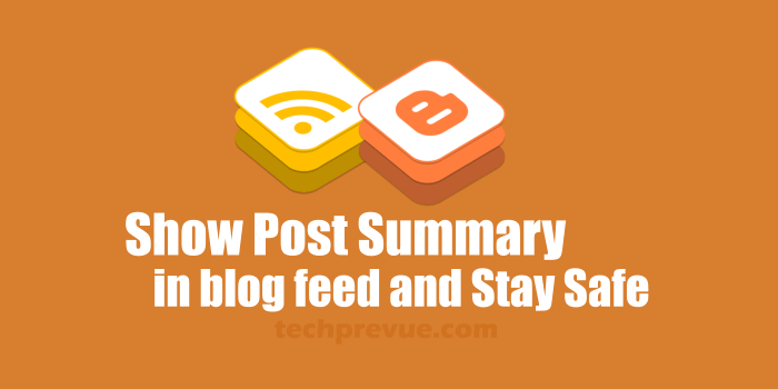 Post summary in blog feed