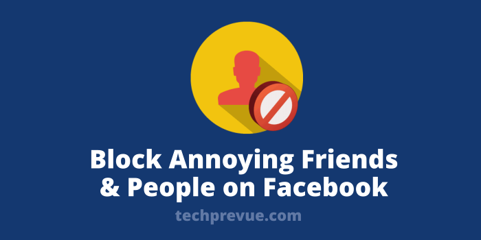 Block someone on Facebook
