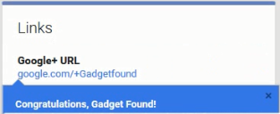 Google+ Get Custom URL