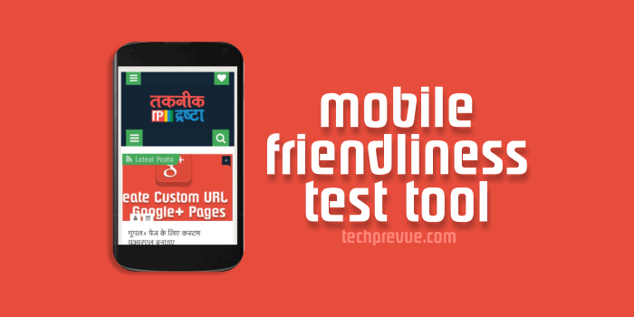 Mobile-friendliness test tool