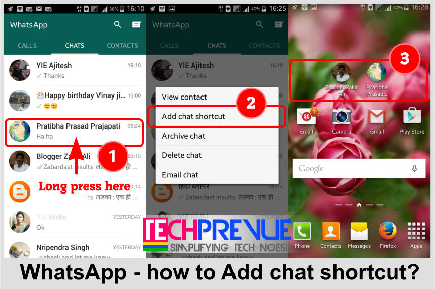 WhatsApp - Add Chat Shortcut