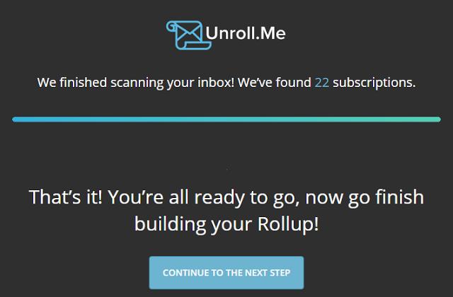 Unroll.me Scanning inbox