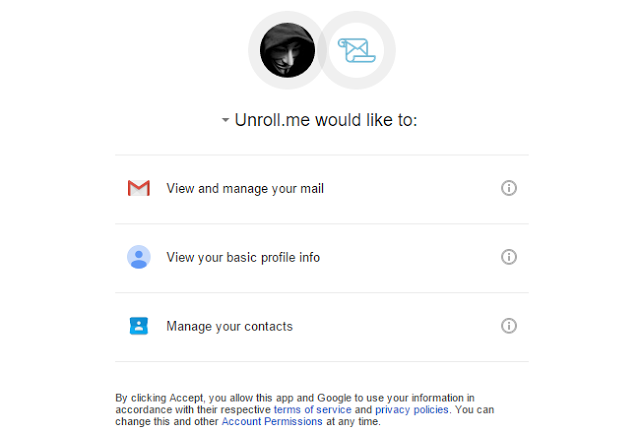 Unroll.me Access Email