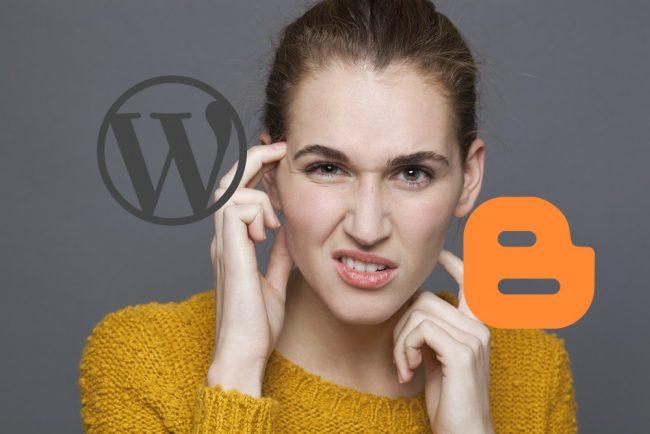 वर्डप्रेस और ब्लॉगर