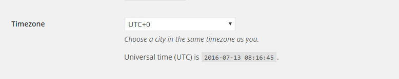 WordPress Timezone