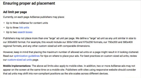 Old AdSense Policy