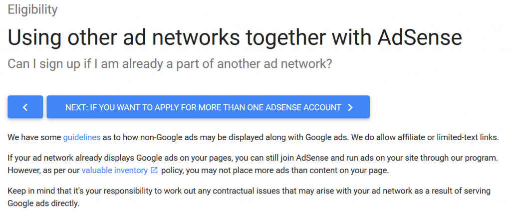 Google AdSense with other ad networks