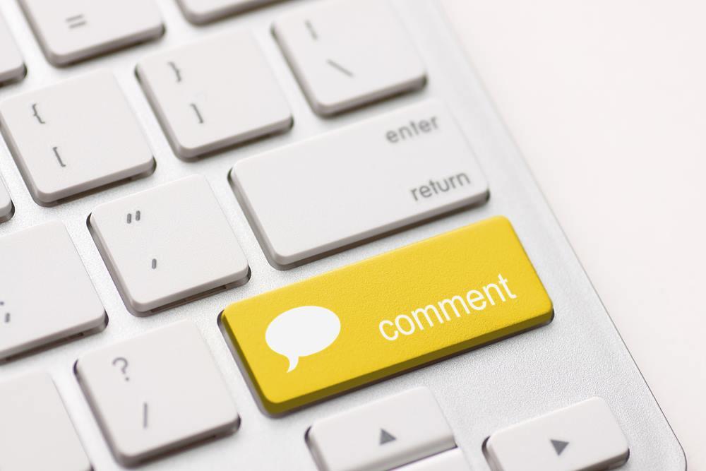 blog comment concept