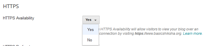 Enable HTTPS Availability on A Blog- Google Blogger