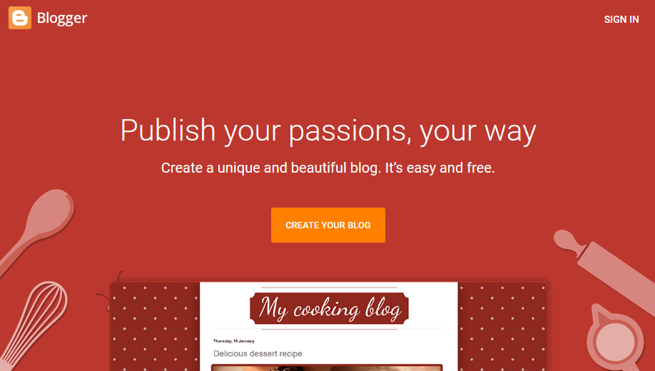 Google Blogger Create your blog